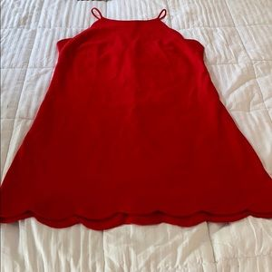 Red scalloped dress 👗